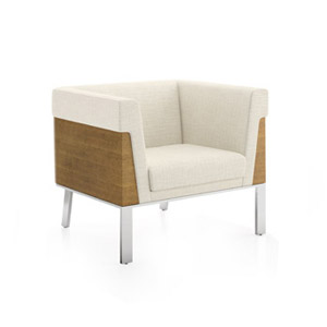 Ava Wood Back Lounge Chair