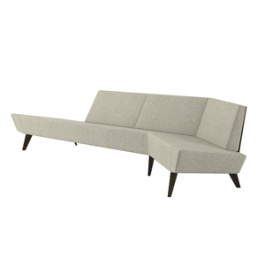 Avant Long Angled Wood Back Sofa