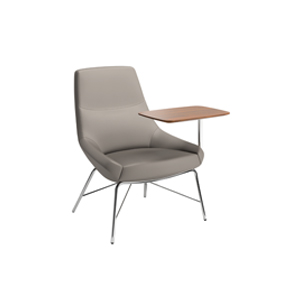 Bing Mid Back Work Lounge Tubular Base + Tablet