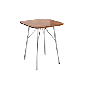 Bing Side Table Square Wood Top