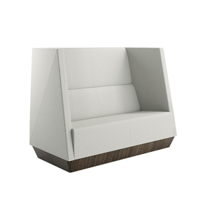 Caid High Back Love Seat Plinth Base