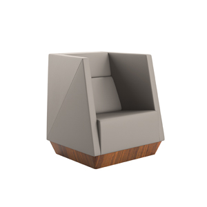 Caid Mid Back Lounge Chair Plinth Base