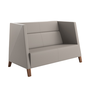Caid Mid Back Love Seat Wood Leg