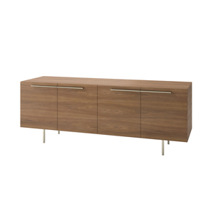 Index R™ Credenza Metal Legs with Two Bookcases