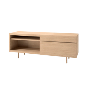 Index R™ Credenza Wood Legs with Box/File and Open Shelf