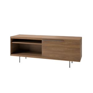 Index R™ Credenza Metal Legs with Large Drawer and Open Shelf