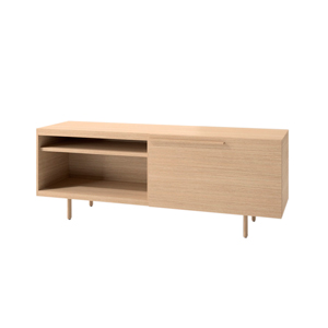 Index R™ Credenza Wood Legs with Large Drawer and Open Shelf
