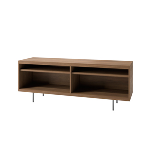 Index R™ Credenza Metal Legs with Two Open Shelves