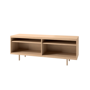 Index R™ Credenza Wood Legs with Two Open Shelves