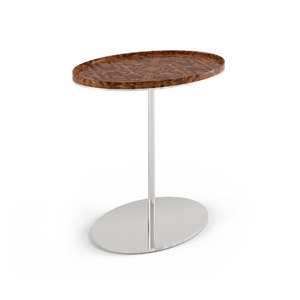 Plateau Oval Side Table