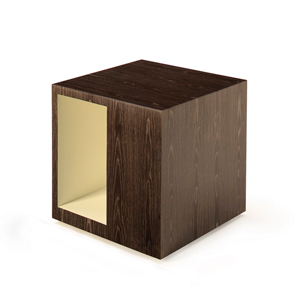 Rottet Side Table Square Open Asymmetrical